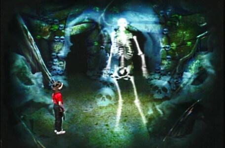 Knightmare Series 1 Team 6. Richard in the Skeleton Room in Level 3.