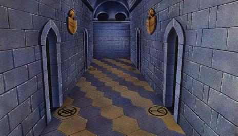 The level one dungeon shield room.