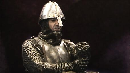 Gumboil the Knight, played by Edmund Dehn in Series 1 of Knightmare (1988).