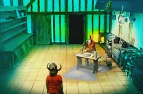 Knightmare Series 2 Team 12. Folly makes a mess in the kitchen in Level 1.