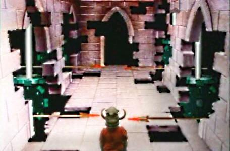 Knightmare Series 2 Team 12. Steven at the Corridor of Spears in Level 2.