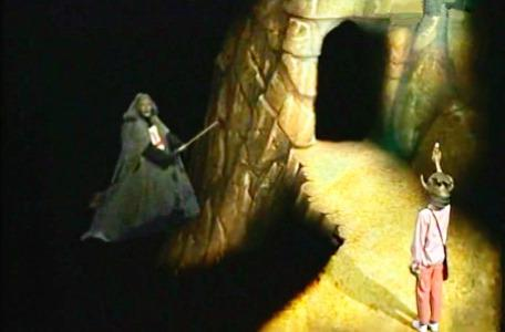 Knightmare Series 2 Team 13. Mildread has lost control of her broomstick.