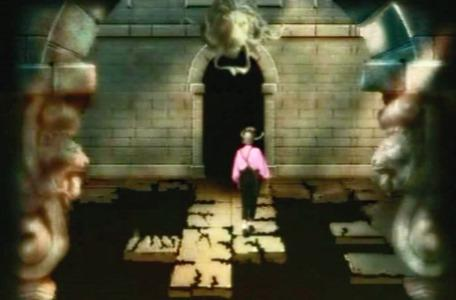 Knightmare Series 2 Team 2. Claire treads carefully around the broken path.