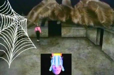Knightmare Series 2 Team 2. Claire must avoid the giant spider, Ariadne.