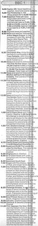 A television schedule for BBC One for Friday 8 September 1989.