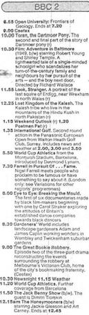 A television schedule for BBC Two for Friday 8 September 1989.