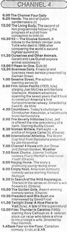 A television schedule for Channel Four for Friday 8 September 1989.