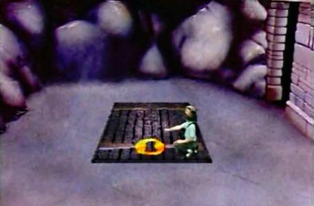 Knightmare Series 3 Team 9. Scott unlocks a trapdoor down to Level 2.