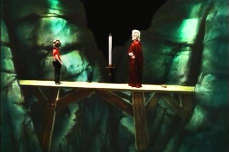 Knightmare Series 3 Team 4. The team uses a SWORD spell to impress Hordriss the Confuser.
