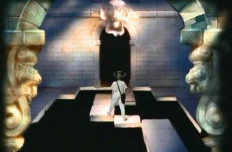 Knightmare Series 3 Team 7. Kelly negotiates a narrow pathway from the Lion's Head.