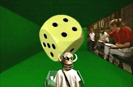 Knightmare Series 3 Team 7. A large dice appears in the first room.