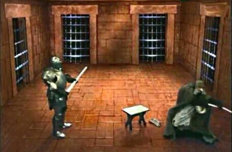 Knightmare Series 3 Team 7. Kelly is turned into a knight to escape Mrs Grimwold.