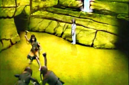 Knightmare Series 3 Team 7. Velda rescues the dungeoneer from goblins in the Vale of Banburn.