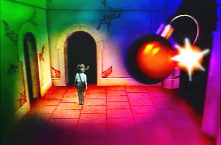 Knightmare Series 3 Team 9. A colourful bomb room in Level 1.