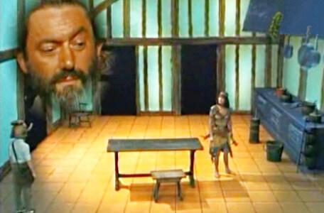 Knightmare Series 3 Team 9. Velda complains to Treguard in the kitchen.