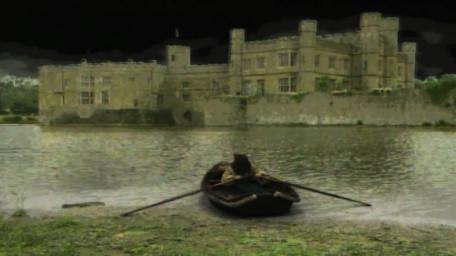 The boatman, played by Paul Valentine, in Series 4 of Knightmare.