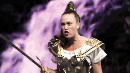 Gundrada the Sword Mistress, played by Samantha Perkins in Series 4 of Knightmare (1990).