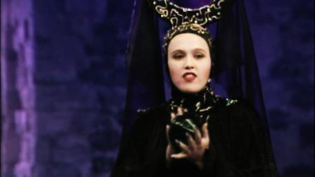 Malice the Sorceress, played by Samantha Perkins in Series 4 of Knightmare (1990).