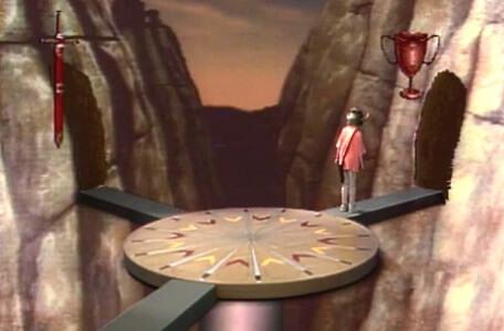 Knightmare Series 4 Team 1. Helen takes the path of the Cup from the Place of Choice.