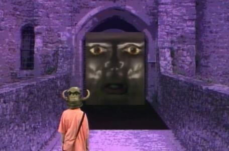 Knightmare Series 4 Team 1. Helen encounters Dooris, the Level 1 Weeping Door.