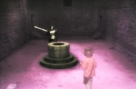 Knightmare Series 4 Team 1. Helen turns into a shadow to evade a guarding knight.