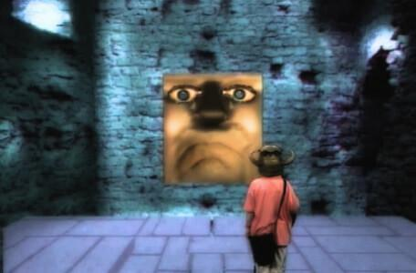 Knightmare Series 4 Team 1. Helen meets Doorkis, the Weeping Door in Level 2.