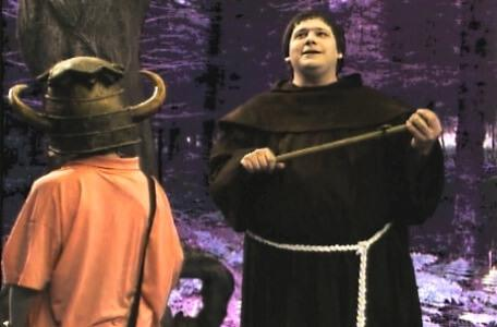 Knightmare Series 4 Team 1. Helen meets Brother Mace in the forest.