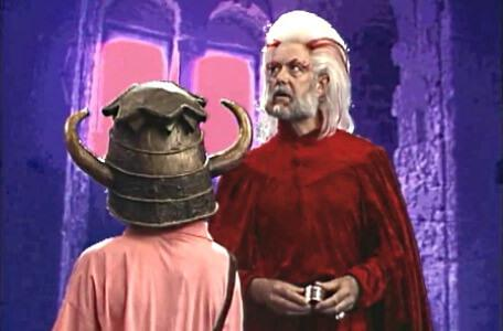 Knightmare Series 4 Team 1. Hordriss looks around cautiously in the Tower of Time.