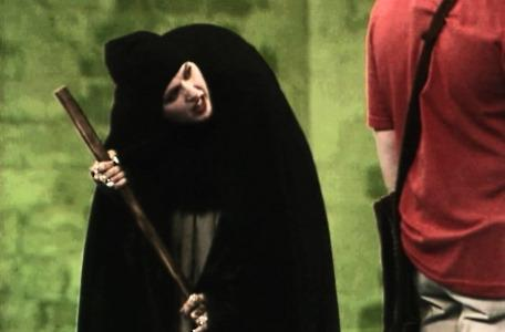 Knightmare Series 4 Quest 4. Malice is disguised as an old crone in Level 1.