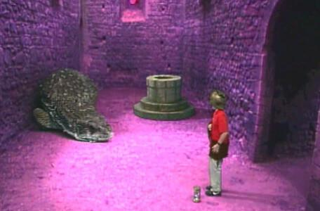 Knightmare Series 4 Quest 4. Simon puts down an hourglass to freeze a snake guarding the wellway.