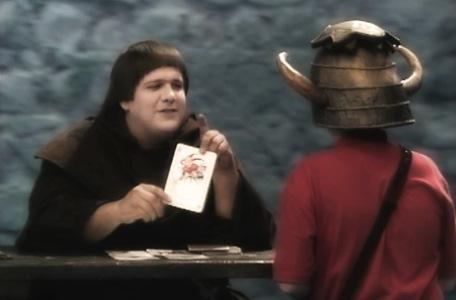 Knightmare Series 4 Quest 4. Brother Mace hands over a joker.