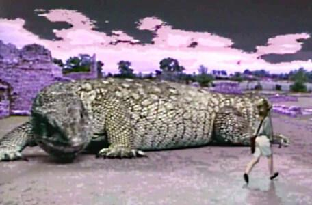 Knightmare Series 4 Quest 5. Vicky runs away from a large lizard.