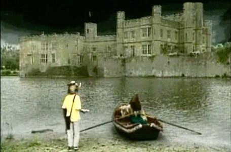 Knightmare Series 4 Quest 8. Giles approaches the boatman at the Dunswater's edge.
