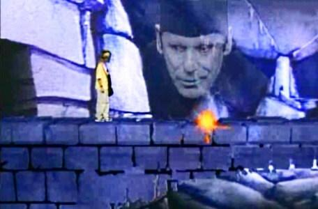 Knightmare Series 4 Quest 8. Mogdred files a bolt at the bridge in Level 3.