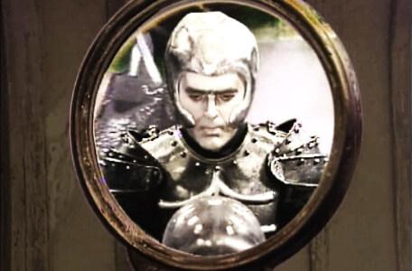 Knightmare Series 5 Team 1. A first glimpse of Lord Fear through a spyglass.