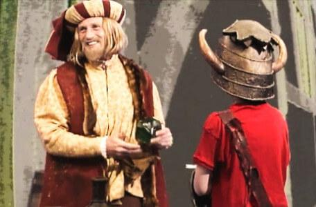 Knightmare Series 5 Team 4. Ben tries to trade with Julius Scaramonger in Level 1.