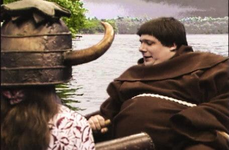 Knightmare Series 5 Team 5. Brother Mace rows Jenna across the lake.