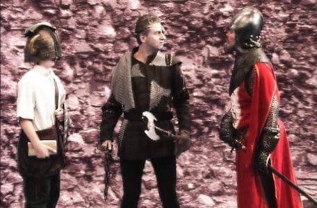 Knightmare Series 5 Team 6. Sir Hugh de Wittless rescues Ben from Skarkill.
