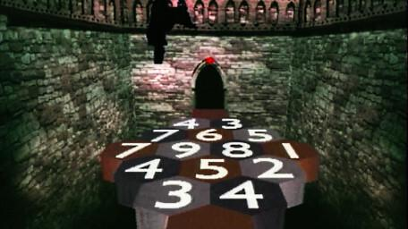 A causeway of numbers, as seen in Series 6 of Knightmare (1992).