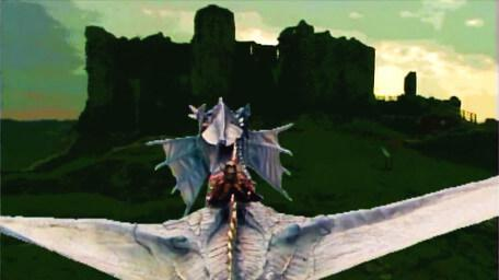 Flight footage of Smirkenorff, as seen in Series 5 of Knightmare (1991).