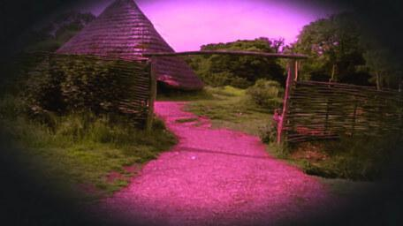 The settlement of Holmgarth, as seen in Series 6 of Knightmare (1992).