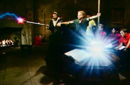 Knightmare Series 6, End of Series. Pickle strikes the mace on the quest table as Treguard aims the lightning rod.
