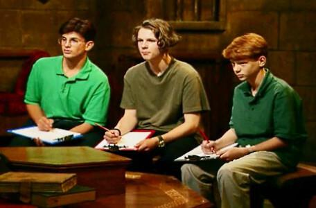 Knightmare Series 6 Team 1. The advisors: Razard, Ben and John.