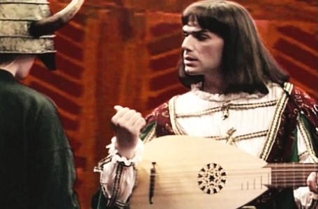 Knightmare Series 6 Team 1. Matt meets Ridolfo, a minstrel with a lute.