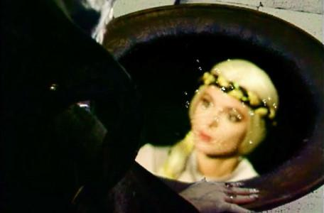 Knightmare Series 6 Team 1. A view of the witch queen, Greystagg, through Lord Fear's pool.