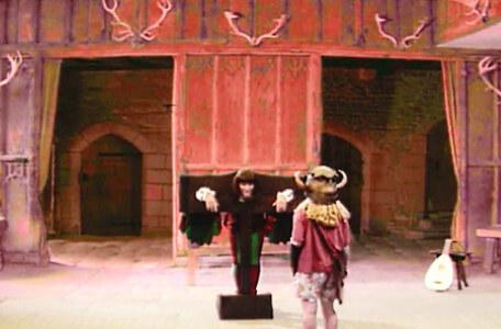 Knightmare Series 6 Team 4. January finds Ridolfo locked in the pillory.