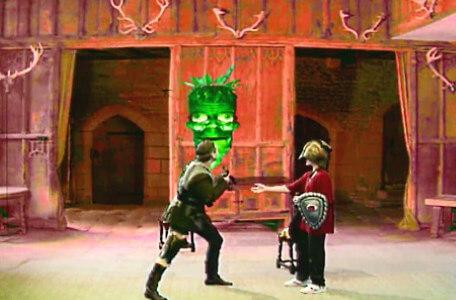 Knightmare Series 6 Team 5. Ben pressures Skarkill for a key after setting a pooka loose on him.