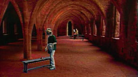 The undercroft, as seen in Series 6 of Knightmare (1992).