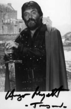 A 1993 character card of Treguard (Hugo Myatt).