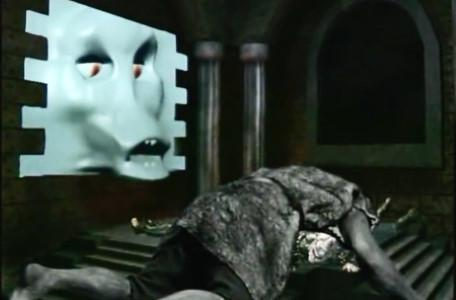 Knightmare Series 7, End of Series. The stricken troll pins Lord Fear to the floor as the Brollachan watches on.